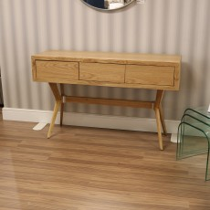 Julia 2 Drawer Console Table Oak (Available in Galway & Kilkenny) RRP €669 OUR PRICE €349
