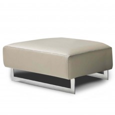 Egoitaliano Malika Small Rectangular Footstool Leather Category B