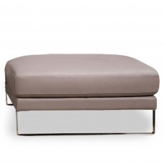 Egoitaliano Regina Rectangular Footstool Leather Category B