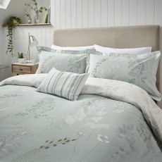 Sanderson Summer Meadow Reversible Duvet Cover Set Aqua