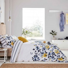Joules Galley Grade Floral Reversible Duvet Cover Chalk