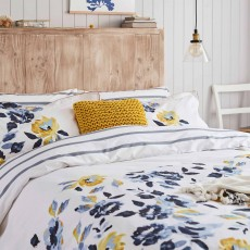 Joules Galley Grade Floral Reversible King Duvet Cover Chalk