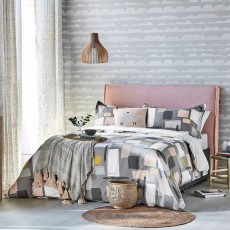 Scion Composition Reversible Double Duvet Cover Putty