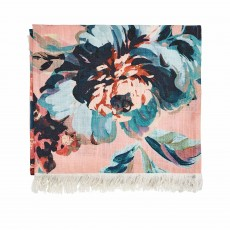 Joules Little Leaf Throw 140cm x 200cm Soft Blue