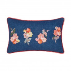 Joules Hollyhock Meadow Cushion Multi Coloured 30x50cm