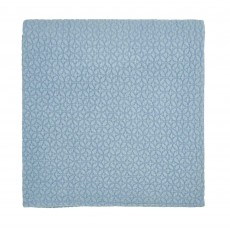 Joules Hollyhock Meadow Knitted Throw 140cm x 200cm Hydra Blue
