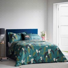 Harlequin Coppice Reversible Duvet Cover Peacock