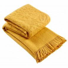 Christy Lace Throw 220cm x 200cm Ochre