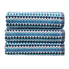 Christy Carnaby Stripe Towel Blue