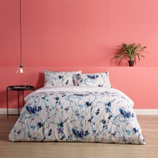 Christy Enzo Reversible Duvet Cover Set Blue
