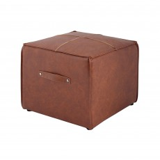 Mindy Brownes Logan Small Ottoman Faux Tan Leather