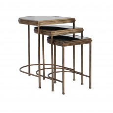 Mindy Brownes India Nesting Tables Gold (Set of 3)