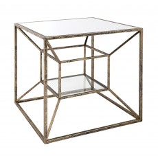 Mindy Brownes Solomon Lamp Table Gold & Black
