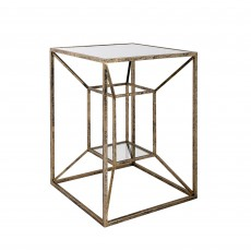 Mindy Brownes Solomon Side Table Black & Gold