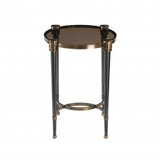 Mindy Brownes Thora Accent Table Black Tapered Legs