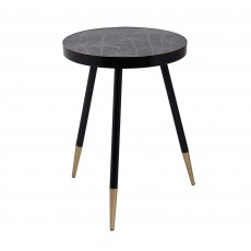 Mindy Brownes Palm Tree Side Table Black & Gold