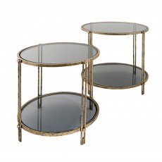 Mindy Rhianna Side Table Gold & Black (Set of 2)