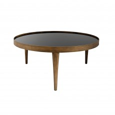 Mindy Brownes Reese Large Table Antique Effect With Black Smoked Glass