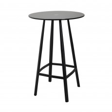 Mindy Brownes Blake High Table with Black Smoked Glass Top