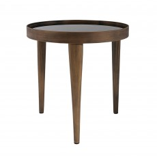 Mindy Brownes Reese Small Table Antique Effect With Black Smoked Glass