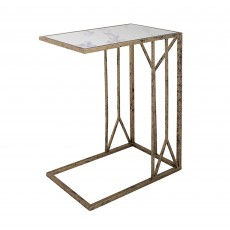 Mindy Brownes Solomon Accent Table Black & Gold