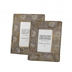 Mindy Brownes Grace Photo Frame Antique Gold (Set of 2)