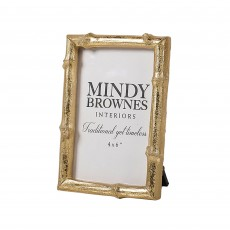 "Mindy Brownes Bamboo Photo Frame (4"" x 6"") Gold"