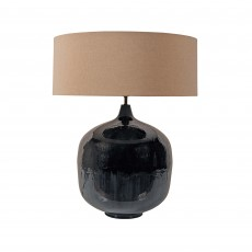 Mindy Brownes Ameera Table Lamp Dark Blue With Linen Shade