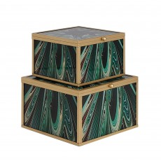 Mindy Brownes Accessory Box Green Envy (Set of 2)