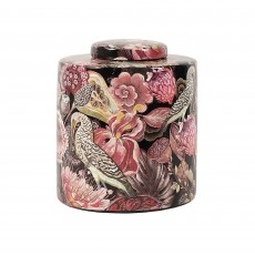 "Mindy Brownes Parrot 9"" Jar Pink, White & Black"