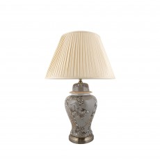 Mindy Brownes Amira Table Lamp Grey With Natural Shade