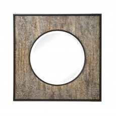 Mindy Brownes Archibald Square Mirror Black