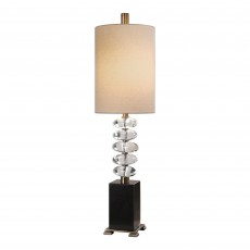 Mindy Brownes Edine Table Lamp Black & Beige With Beige Shade