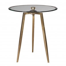 Mindy Brownes Arwen Accent Table Antique Brass