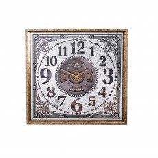 Mindy Brownes Isaac Square Clock With Antique Brass Surround