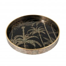 Mindy Brownes Palm Tree Tray Black & Gold