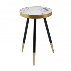 Mindy Brownes Vega Side Table Black & Gold