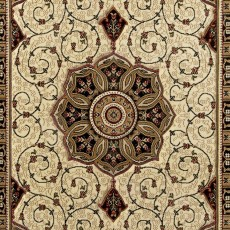 Heritage 4400 Rug Black & Cream