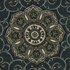 Heritage 4400 Circle Rug Dark Blue
