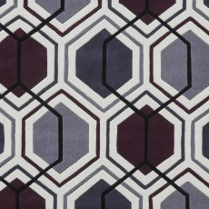 Hong Kong 7526 Rug Cream & Dark Purple
