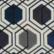Hong Kong 7526 Rug Grey & Navy