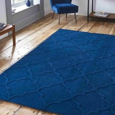 Hong Kong Plain 8583 Rug 150x230cm Navy