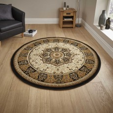 Heritage 4400 Circle Rug Black & Cream