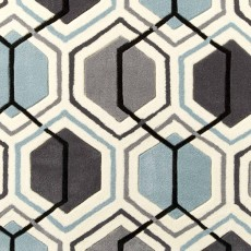 Hong Kong 7526 Rug Grey & Blue