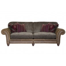 Alexander & James Hudson 4 Seater Sofa Option 1 Fabric & Leather