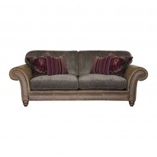 Alexander & James Hudson 3 Seater Sofa Option 1 Fabric & Leather