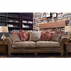 Alexander & James Hudson 2 Seater Sofa Option 1 Fabric & Leather