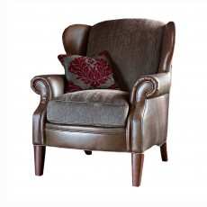Alexander & James Hudson Wing Chair Option 1 Fabric & Leather