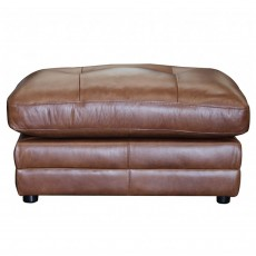 Alexander & James Savona Footstool Byron Leather