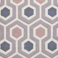 Hong Kong 3661 Rug Grey & Rose